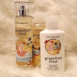 Bath and Body Works Grapefruit Frosé Body Care Set